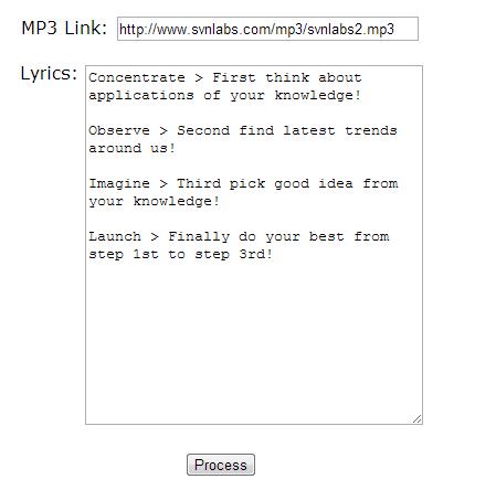 HTML5 Audio Karaoke Tool