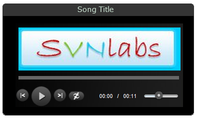 HTML5 MP3 Playlist Player Custom Color Size